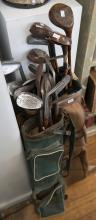A QUANTITY OF VINTAGE GOLF CLUBS, INCL. SCOTTISH, ENGLISH & AUSTRALIAN