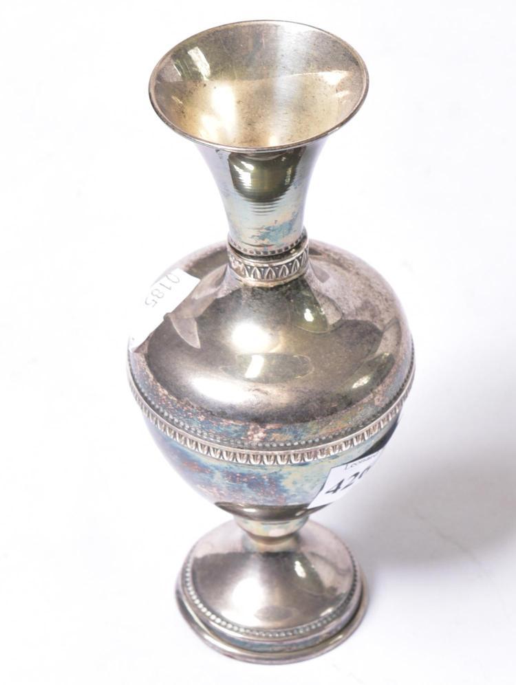 a greek 925 silver vase