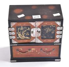 A JAPANESE MINIATURE LACQUER CABINET
