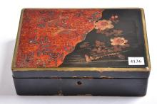 A JAPANESE LACQUER BOX (A/F)