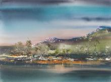 GEOFF DYER (born 1947) Lake St. Clair VI 2008 watercolour and gouache on paper
