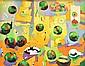 PAUL CAVELL (BORN 1946) Geometric Landscape oil on canvas