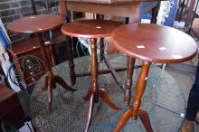 A SET OF THREE WINE TABLES