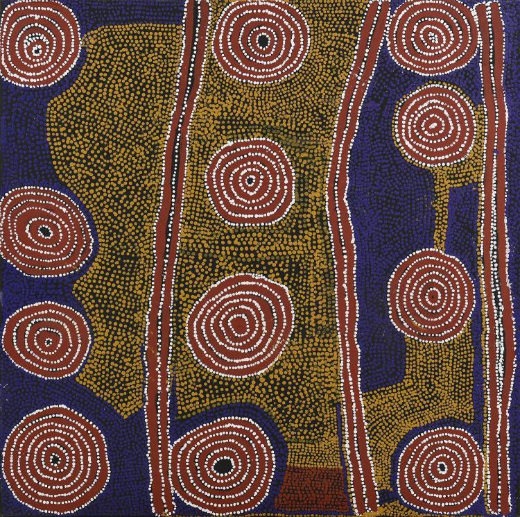 PADDY NELSON TJUPURRULA (c.1919-1990) Yarla Yarla, 1998 acrylic on canvas