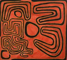 JIMMY NERRIMAH MULGRA (BORN c.1930) Nyimpi 2001 acrylic on canvas