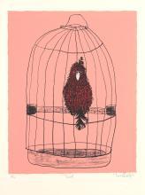 BASIL HADLEY (1940-2006) Bird 1991 screenprint 4/50