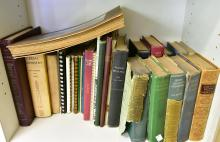 A SHELF OF BOOKS ON FLOUR MILLING INCL. MILLS & MILLWORK