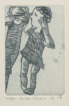 CHARLES BLACKMAN (1928-2018) Hide and Seek II etching ed. 25/60