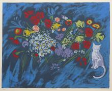 CHARLES BLACKMAN (1928-2018) Fifty Flowers screenprint ed. 12/80