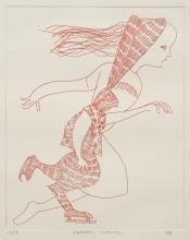 CHARLES BLACKMAN (1928-2018) Skaters Waltz etching ed. W/P