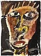 MIKE NICHOLLS (BORN 1960) Face Study 1986, acrylic on paper, signed and dated lower left, 38.5 x 28cm, Mike Nicholls, Click for value