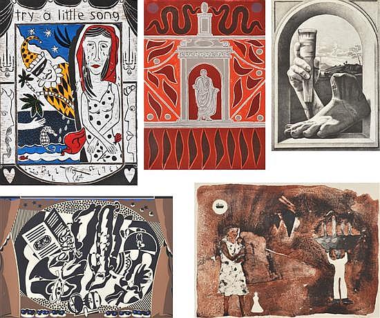 5 works from the Australian Opera's 40th Anniversary portfolio 1996i) Kerrie Lester (born 1953), Ariadne Auf Naxos, woodcutii) Alu...