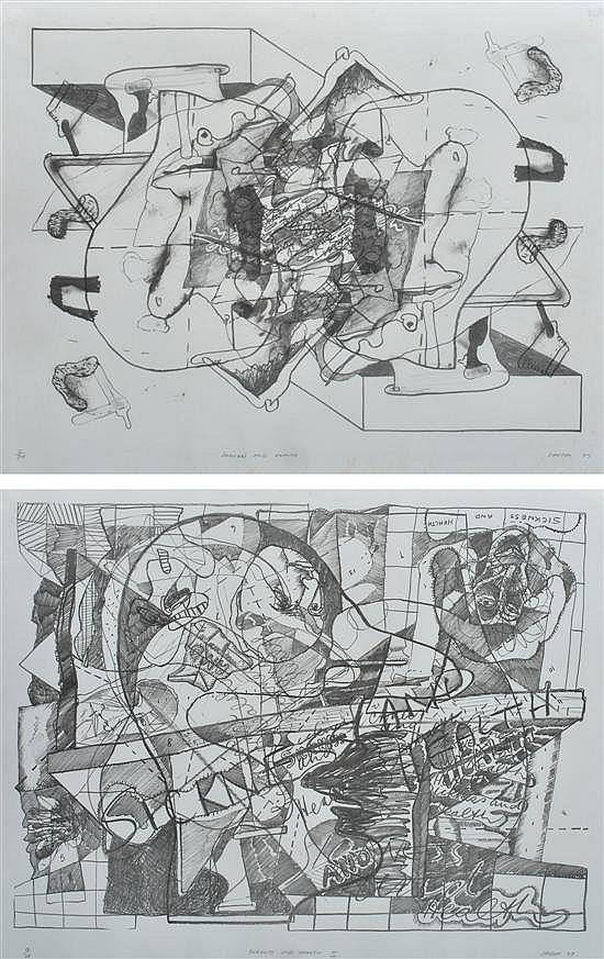 Gareth Sansom (born 1939) Pair of Lithographs: i) Sickness and Health 1977 2/30ii) Sickness and Health II 1977 10/20