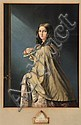 George Baxter (1804-1867) The Bridesmaid coloured print, George Baxter, Click for value