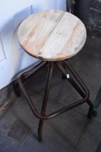 AN INDUSTRIAL STYLE STOOL