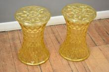PAIR OF STOOLS IN THE STYLE OF MEDICINE