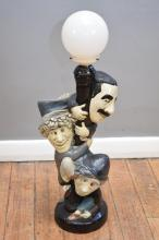 A VINTAGE MARX BROTHERS TABLE LAMP