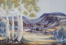 CLAUDE PANNKA, UNTITLED, WATERCOLOUR, 49 X 70.5 CM