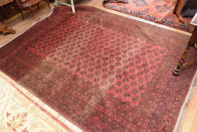 A 100 Wool Persian Rug Sun Damage