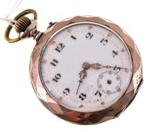 AN ANTIQUE SILVER POCKET WATCH WITH SUB SECONDS AF