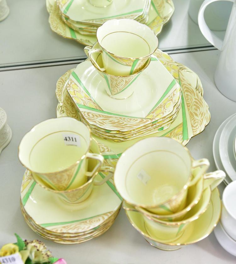 a royal grafton deco afternoon tea set