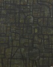 WAYNE EAGER (born 1957) Night Watch 1989 oil on canvas