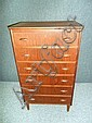 A DANISH TEAK CHEST OF DRAWERS, of six long drawers with teak handles