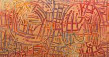 WAYNE EAGER (born 1957) Boulders 2005 acrylic on canvas
