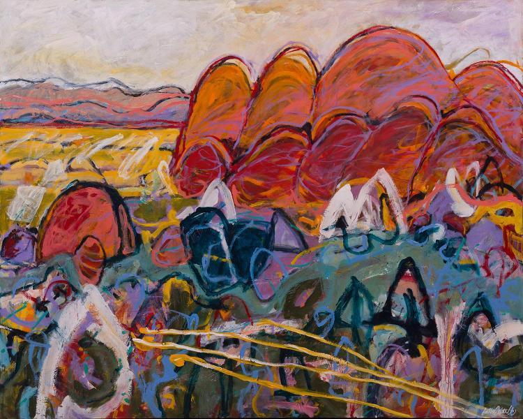ARTHUR TED POWELL (born 1947) Headland acrylic on canvas