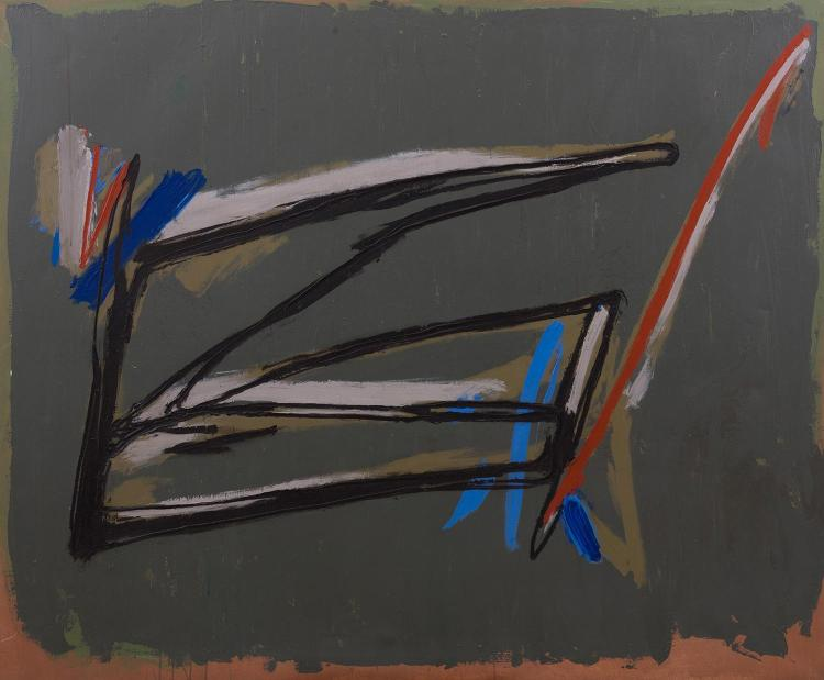 PETER CLARKE (born 1927) Gate 1981 oil on canvas