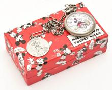 A MICKEY MOUSE POCKET WATCH, IN ORIGINAL BOX