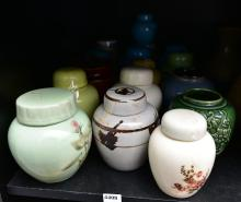 A COLLECTION OF GINGER JARS