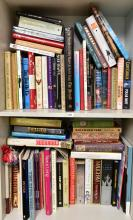TWO SHELVES OF ASSORTED BOOKS, INCL. 'AUSTRALIAN WOMEN' ETC.
