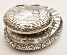 TWO STERLING SILVER SNUFF BOXES