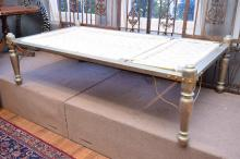 AN INDIAN SILVER OVERLAID DAY BED