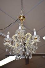 5 GLOBE SCHONBEK CRYSTAL MARIE THERESE CHANDELIER (PLUG NOT INCLUDED)
