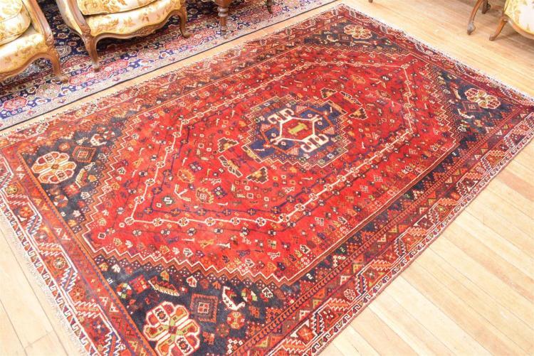 A persian 100 wool floor rug in geometric design for 100 floors floor 41