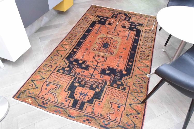 Impressive Persian Lurri Rug Tribal Design Wool Pile Natu