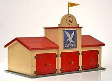 TEKNO 419 WOODEN FIRE STATION WITH 3 X BAYS