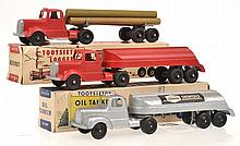 THREE TOOTSIETOY COMMERCIAL VEHICLES INCLUDING
