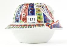 AN UNUSUAL IMARI LIDDED CONTAINER