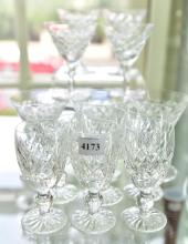 SIX WATERFORD 'DONEGOL' SHERRY GLASSES & SEVEN CHAMPAGNE GLASSES