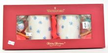 A BOXED WATERFORD CHRISTMAS MUGS SET