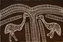 JIMMY PIKE (1940-2002) Wuntarra Karaji (Emu Chick) screenprint 17/95
