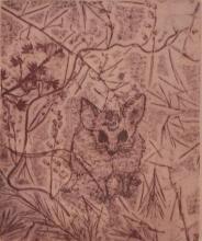 CLIFTON PUGH (1924-1990) Possum in The Bush etching 23/75
