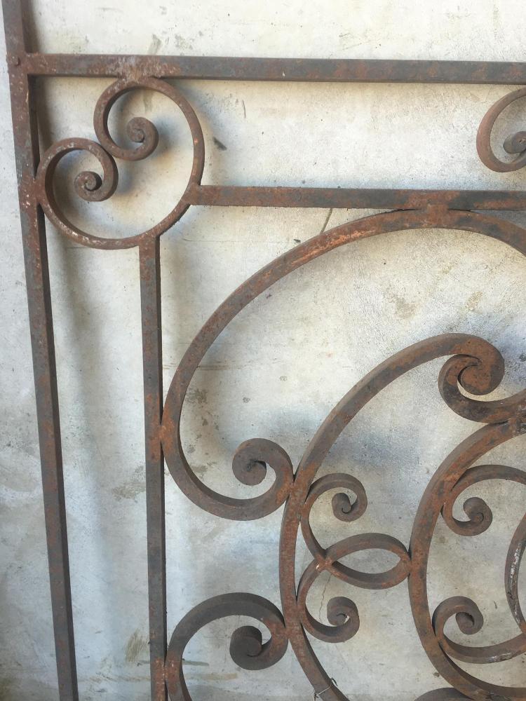 An art nouveau decorative wrought iron panel 100cm x 94cm - Wrought iron decorative wall panels ...