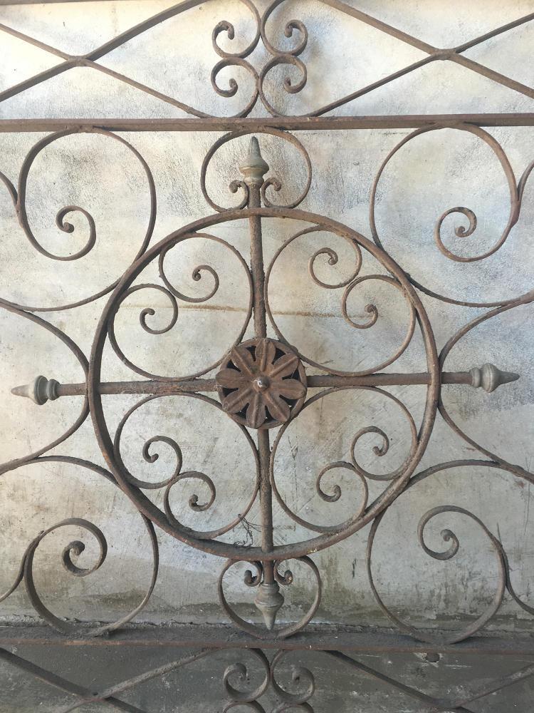 A decorative wrought iron panel 132cm x 98cm - Wrought iron decorative wall panels ...
