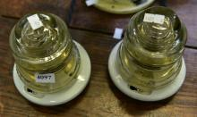 TWO HEMMINGRAY ELECTRIFIED LAMPS (IN WORKING ORDER)