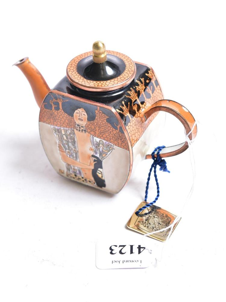 a charlotte di vita miniature enamel 39 gustav klimt 39 teapot. Black Bedroom Furniture Sets. Home Design Ideas