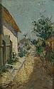 Adolf Fenyes (Hungarian, 1867-1945) Walking Home oil on panel, Adolf Fenyes, Click for value